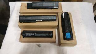 23 X ASSORTED LAPTOP BATTERIES- QBEK00223KK, QBEK00129KP, QBEK00126KP AND QBEK00206KP