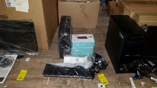 COMPUTER LOT CONTAINING ACER ASPIRE XC704, 3 X GOODMANS WIFI AUDIO ADAPTER MODULE, KEYBOARD,