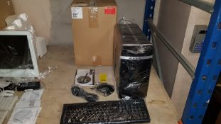 COMPUTER LOT CONTAINING ASUS ZOOSTORM SYSTEM UNIT MODEL 7200-0155/B, ZOOSTORM KEYBOARD, ASUSA68H