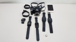 7 SMART WATCHES MAKES INCLUDE SONY, TOMTOM, PEBBLE, FITBIT, IPHONE 6 + KODAK CAMERA ALL FOR SPARES