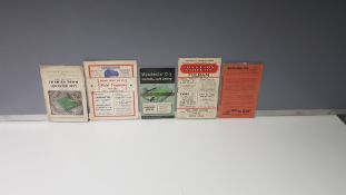 5 X OTHER CLUB PROGRAMMES IN VERY GOOD CONDITION TO INCLUDE - 17.11.51 - ALDERSHOT VS TORQUAY UNITED