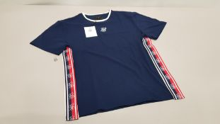 10 X BRAND NEW NAVY S/S ESSENTIAL RETRO TAPE TEE IN VARIOUS SIZES