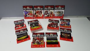COMPLETE COLLECTION OF MANCHESTER UNITED PROGRAMMES FROM THE 2000/01 SEASON. FROM ISSUE 1 - 27 IN