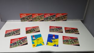 COMPLETE COLLECTION OF MANCHESTER UNITED HOME GAME PROGRAMMES FROM THE 1977/1978 SEASON. RANGING