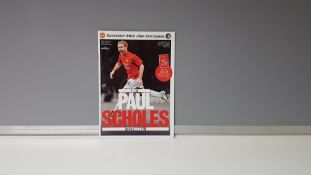 1 X ORIGINAL (PAUL SCHOLES) TESTIMONIAL PROGRAMME - MANCHESTER UNITED VS NEW YORK COSMOS - 5TH