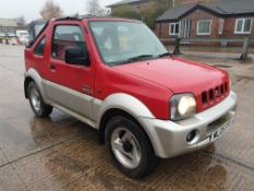 RED SUZUKI JIMNY 02. Reg : ML05FFA, Mileage : 76681 Details: WITH V5, MOT EXPIRES 7/06/2021, 1 KEY