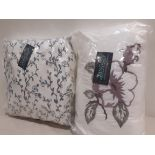 15 X BRAND NEW RINGLES PIPPA BOUDOIR CUSHIONS IN DUSTY PINK AND TEAL