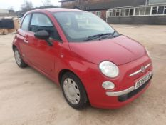 RED FIAT 500 POP. Reg : DE09 XCB, Mileage : 73,649 Details: WITH 2 KEYS AIR CON PART HISTORY