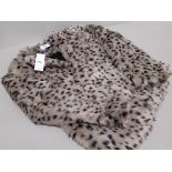 7 X BRAND NEW DOROTHHY PERKINS LEOPARD PRINT FAUX FURR JACKETS IN SIZES UK 10 AND 12
