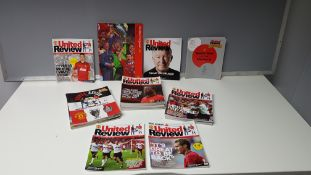 COMPLETE COLLECTION OF MANCHESTER UNITED HOME GAME PROGRAMMES FROM THE 2012/13 SEASON. FROM ISSUE