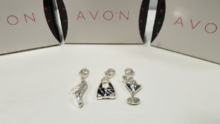 184 X BRAND NEW AVON BRENNA CHARM SET 3 X CHARMS
