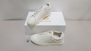 10 X BRAND NEW GHOST WHITE SIK SILK SHOES SIZE 6