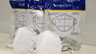 200 X BRAND NEW DR MFYAN KN95 THREE DIMENSIONAL PROTECTIVE RESPIRATOR 3 YEAR SHELF LIFE (UNOPENED)