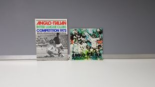 2 X ANGLO-ITALIAN INTER-LEAGUE CLUBS COMPETITION 1973 PROGRAMMES. TEAMS INCLUDE - MANCHESTER UNITED,