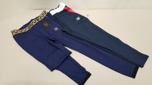 8 X BRAND NEW NAVY SIK SILK FUNCTION TRACK PANTS AND 6 X BRAND NEW NAVY/ GOLD SCOPE TRACK PANTS