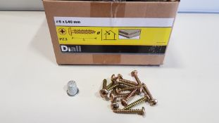 32,400 X BRAND NEW WOOD SCREW PAN YZP PZD 6 X 40 LOOSE IN 54 BOXES