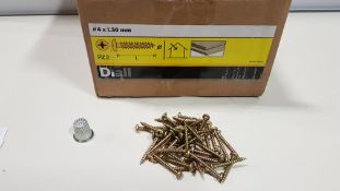 55,500 X BRAND NEW WOOD SCREW PAN YZP 4 X 30 LOOSE IN 30 BOXES