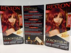 48 X BRAND NEW REVLON COLORSILK ALL IN ONE BUTTERCREAM INTENSE RED HAIR COLOUR IN 4 BOXES