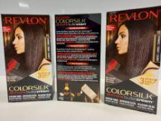 48 X BRAND NEW REVLON COLORSILK ALL IN ONE BUTTERCREAM BLACK HAIR COLOUR IN 4 BOXES