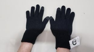 60 X BRAND NEW TOPMAN BLACK WINTER GLOVES SIZE M/L TOTAL RRP £480.00 (PICK LOOSE - DOUBLE PACKS)