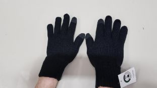 60 X BRAND NEW TOPMAN BLACK WINTER GLOVES SIZE M/L TOTAL RRP £480.00 (PICK LOOSE - 2 PACKS)