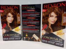 48 X BRAND NEW REVLON COLORSILK ALL IN ONE BUTTERCREAM MEDIUM GOLDEN BROWN HAIR COLOUR IN 4 BOXES