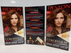 48 X BRAND NEW REVLON COLORSILK ALL IN ONE BUTTERCREAM LIGHT NATURAL BROWN HAIR COLOUR IN 4 BOXES
