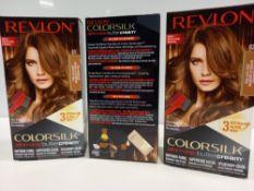 48 X BRAND NEW REVLON COLORSILK ALL IN ONE BUTTERCREAM LIGHT GOLDEN BROWN HAIR COLOUR IN 4 BOXES
