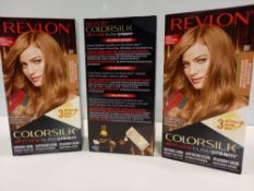 48 X BRAND NEW REVLON COLORSILK ALL IN ONE BUTTERCREAM MEDIUM NATURAL BLONDE HAIR COLOUR IN 4 BOXES