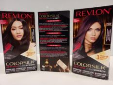 8 X BRAND NEW REVLON COLORSILK ALL IN ONE BUTTERCREAM MEDIUM NATURAL BROWN HAIR COLOUR AND 8 X BRAND
