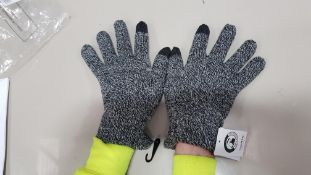 51 X BRAND NEW TOPMAN GREY WINTER GLOVES SIZE M/L TOTAL RRP £408.00 (PICK LOOSE - DOUBLE PACKS)
