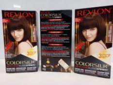 48 X BRAND NEW REVLON COLORSILK ALL IN ONE BUTTERCREAM DARK BROWN HAIR COLOUR IN 4 BOXES