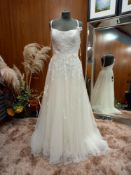 1 X (WILLOWBY BY WATTERS) WEDDING DRESS STYLE - 50700 VIRGO SIZE - 10 COLOUR - IVORY RRP - £1,100