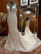 1 X (WTOO) WEDDING DRESS STYLE - 12120 SIZE - UK10 COLOUR - IVORY/SESAME RRP - 1,650