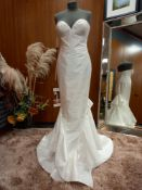 1 X (ZAC POSEN FOR WHITE KATIE) WEDDING DRESS MODEL - ANNA IV RASO REAL SIZE - UK12 NOTE: BLUE