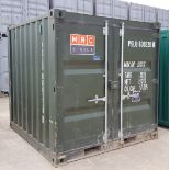 1 X 7FT X 8FT NAVY GREEN SEA CONTAINER EXCELLENT CONDITION WATERPROOF SEAL AROUND DOORS CONTAINER