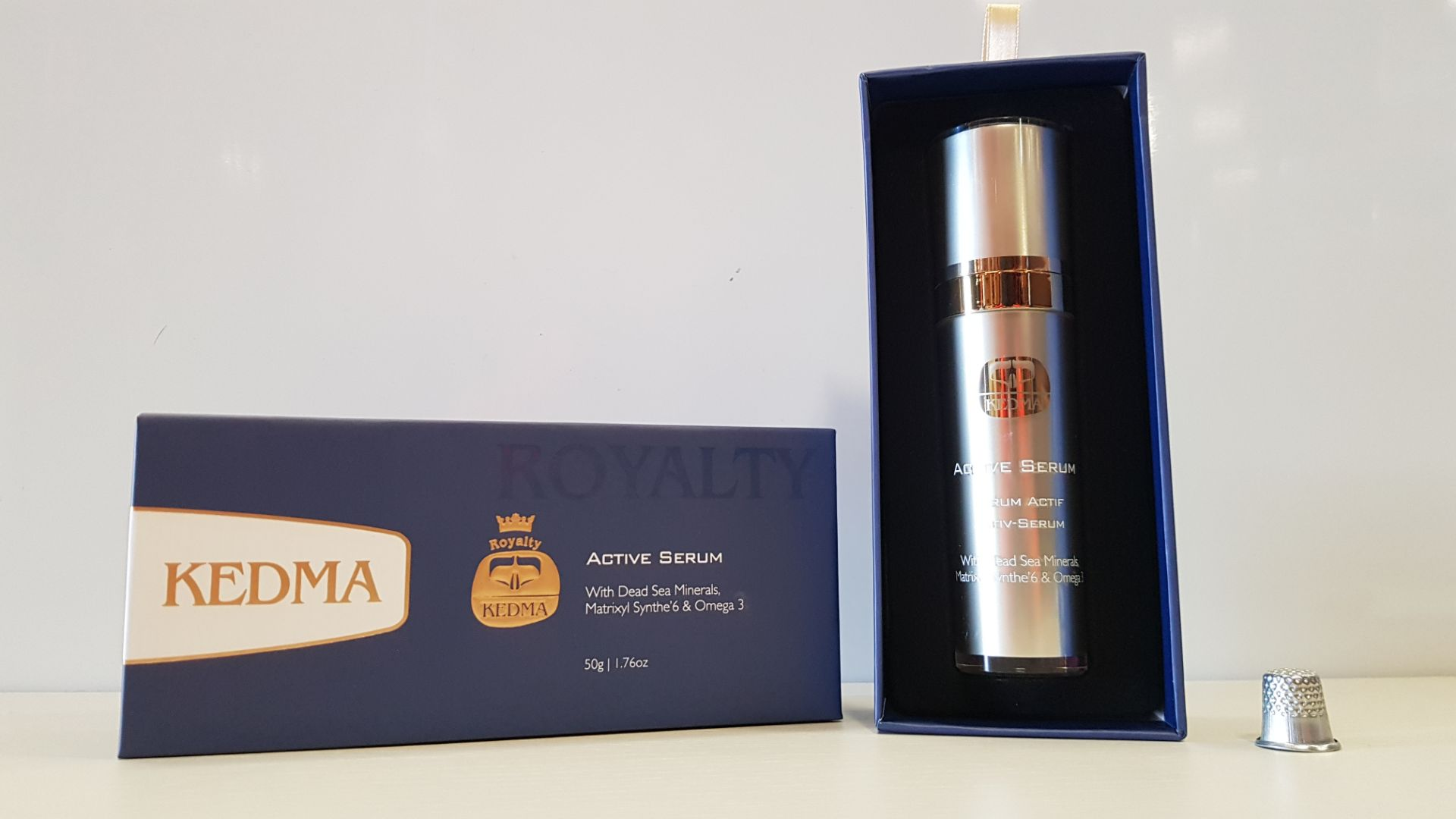 3 X BRAND NEW BOXED ROYALTY KEDMA ACTIVE SERUM WITH DEAD SEA MINERALS, MATRIXYL SYNTHE'6 & OMEGA 3 -