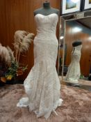 1 X (WTOO) WEDDING DRESS STYLE - 11102P SIZE - UK8 COLOUR - IVORY CHAMPAGNE RRP - £1,490