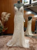1 X (WILLOWBY BY WATTERS) WEDDING DRESS SIZE - UK14 NO TAG