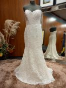 1 X (WTOO) WEDDING DRESS STYLE - 11101P SIZE - UK10 COLOUR - IVORY RRP - £1,750