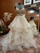 1 X (WTOO) WEDDING DRESS DESIGN - KENNEDY 16005 COLOUR - IVORY SIZE - UK8 RRP - £1,350