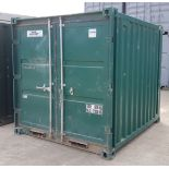 1 X 7FT X 8FT GREEN SEA CONTAINER EXCELLENT CONDITION WATERPROOF SEAL AROUND DOORS CONTAINER
