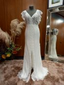 1 X ALMA NOVIA) WEDDING DRESS MODEL - 4B139ENJOOP1380 COLOUR - IVORY SIZE - UK10
