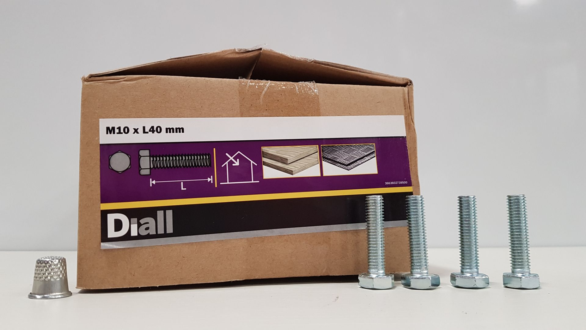1300 X DIALL (M10XL40MM) BOLTS IN 10 BOXES