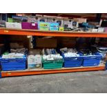 LARGE QUANTITY OF DECORATING EQUIPMENT TO INCLUDE - DIALL ROLLERS, PAINT BRUSHES, BOSTIC CEILING