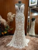 1 X (WILLOWBY BY WATTERS) WEDDING DRESS STYLE - 54111 COLOUR - IVORY NUDE SIZE - 10 RRP - £1,590
