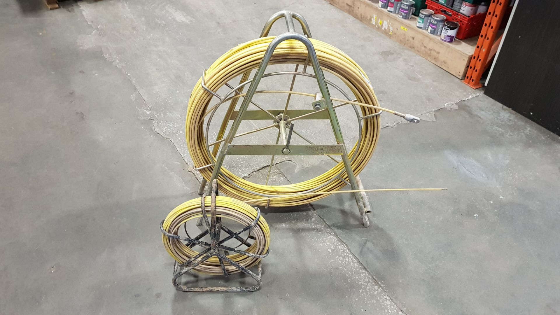 2 X ROLLS OF FEEDER CABLES ON STANCHIONS