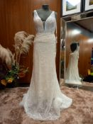 1 X (ROSA CLARA SOFT) WEDDING DRESS MODEL - 3K116ENJ00P3400 SIZE - UK12 RRP - £1,690