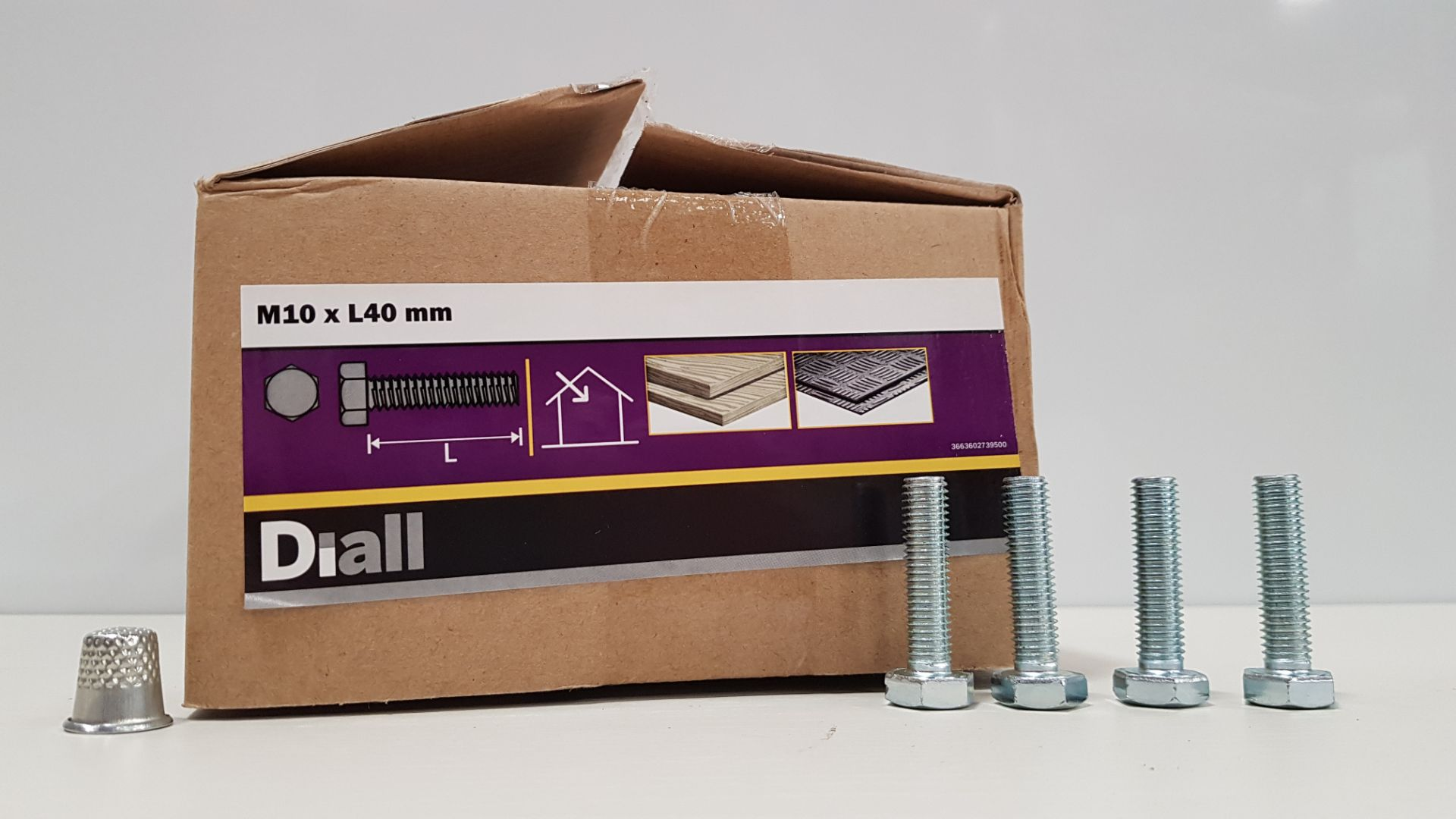 1300 X DIALL (M10 X L40MM) BOLTS IN 10 BOXES