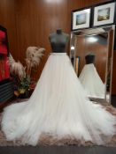 1 X (PRONOVIAS BARCELONA FALDA) WEDDING DRESS SIZE - UK14 NOTE - LONG SKIRT NO TAG, NOTE: NEEDS